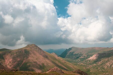 Mountain landscape with clouds on an summer or spring day Stock Photo - 126034300