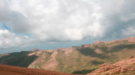 Mountain landscape with clouds on an summer or spring day Stock Photo - 126034309