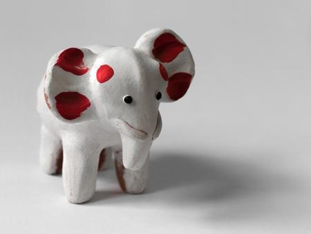 COLOR PHOTO OF WHITE ELEPHANT