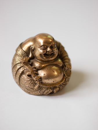 COLOR PHOTO OF LAUGHING BUDDHA