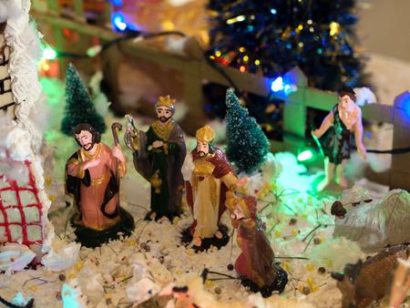 gospels: NATIVITY SCENE OF JESUS Stock Photo