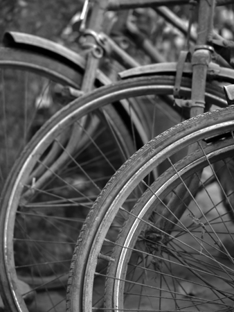 acceptable: ABSTRACT SHOT OF OLD RUSTY BICYCLE PARTS