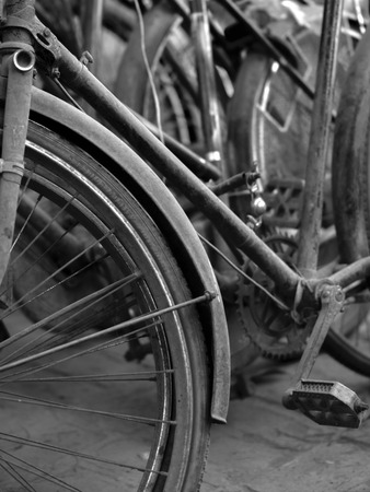 metaphysical: ABSTRACT SHOT OF OLD RUSTY BICYCLE PARTS