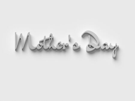 3D WORDS MOTHERS DAY ON PLAIN BACKGROUND Stock Photo