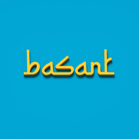 fairs: 3D RENDERING WORDS basant (KITE FESTIVAL IN INDIA AND PAKISTAN)