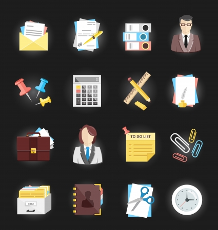 Office and Stationery Icons Set