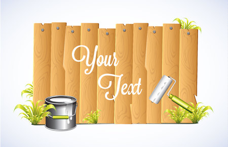 Fence Banner  Vector