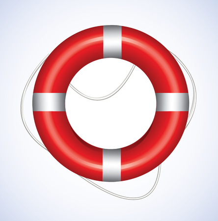 life support: Lifebuoy  Illustration