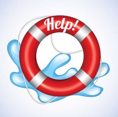 Lifebuoy Help  Illustration