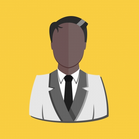 indian professional: Stylish User Profile Avatar Indian Man Icon Illustration