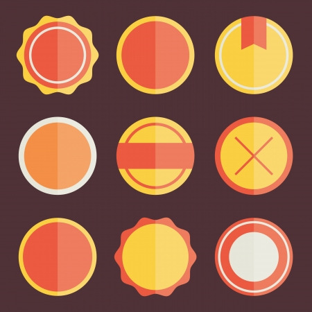 Badges and Stickers Templates Vector