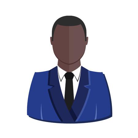 User Profile Avatar Black Man Icône Banque d'images - 22545992