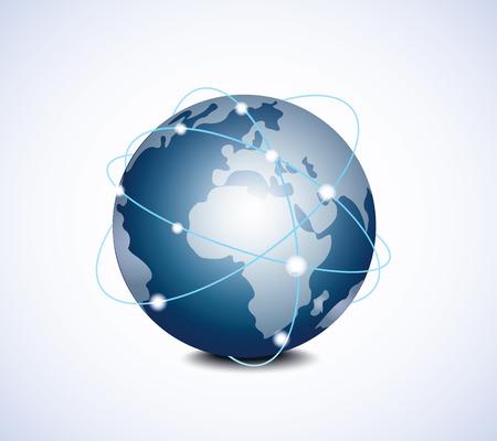 conectar: Planeta Vectores