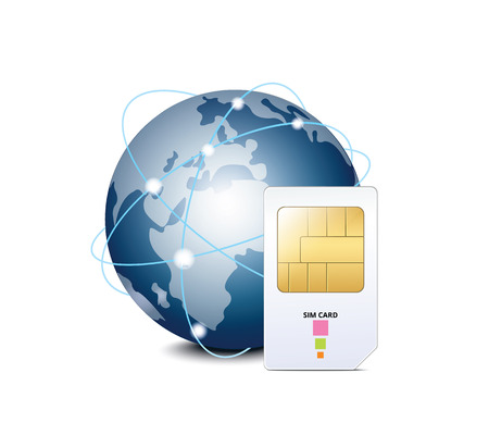 prepaid card: Planet and SIM Card Icon