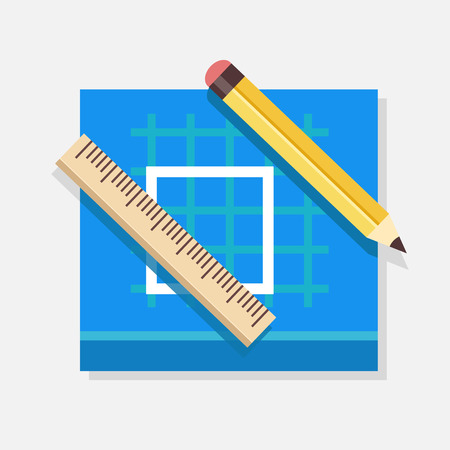Vector Blueprint Icon Illustration
