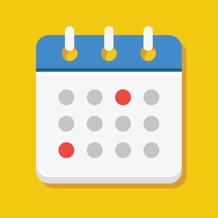 Vector Calendar Icon Illustration