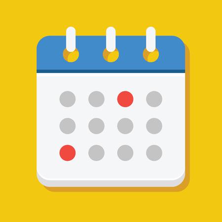 annual events: Vector Calendar Icon Illustration