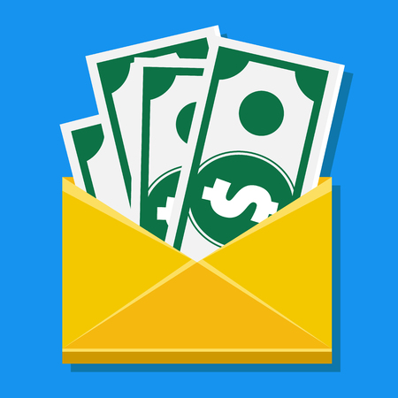 Vector Cash in Envelope Icon  Vector
