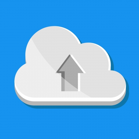 Vector Cloud Upload Icon Stock Vector - 23971784