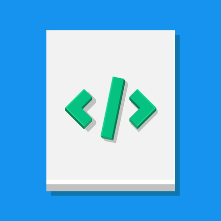 php: Vector Code Sheet Icon
