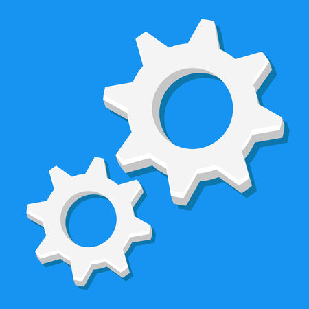Vector Cogs Icon  Illustration