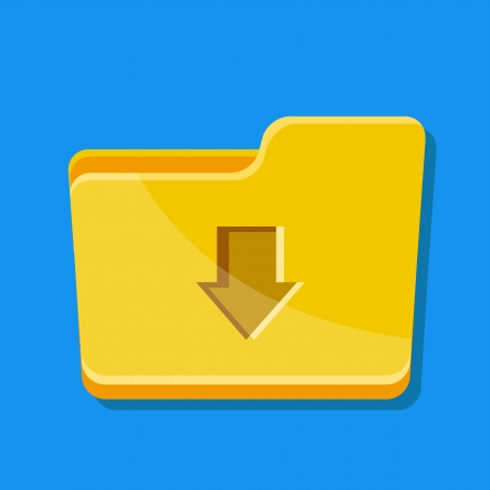 archive site: Vector Download Folder Icon  Illustration