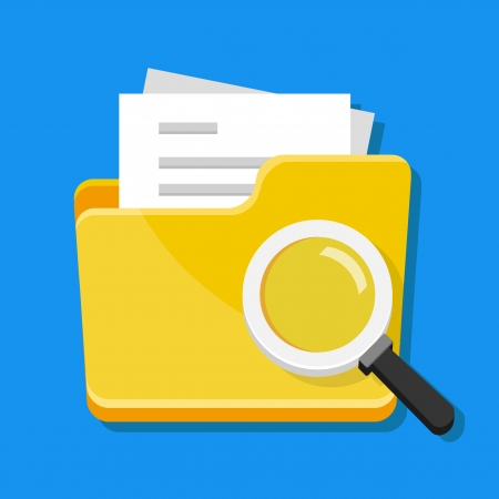 Vector File Search Icon  Illustration
