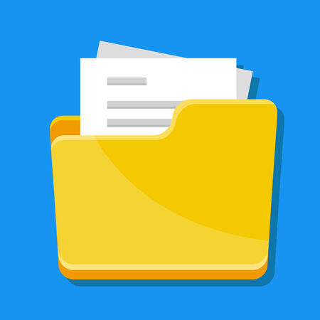 folder with documents: Vector Folder with Documents Icon