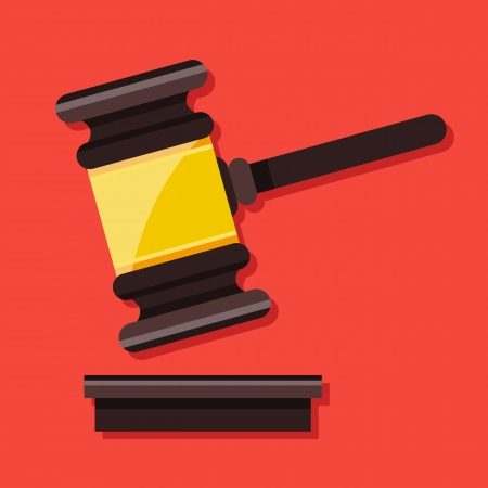 Vector Gavel Icon  Vector