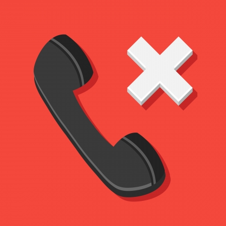 mobil: Vector Missed Call Icon Illustration