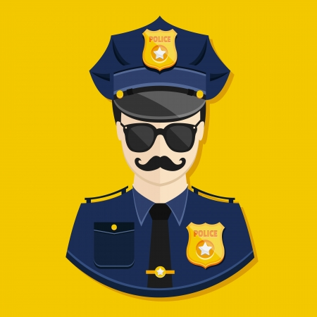 Vector Policeman Icon Stock Vector - 23972035