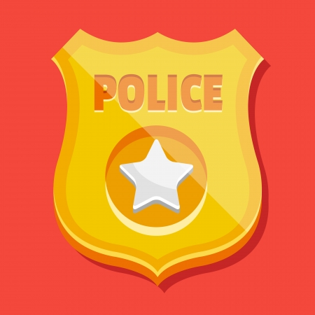 official symbol: Vector Police Badge Icon