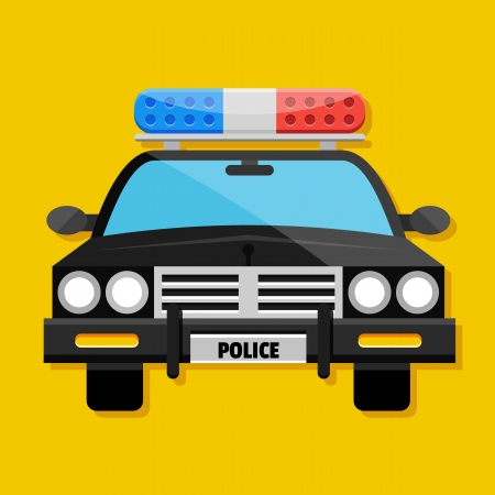 police cartoon: Vector Police Car Icon