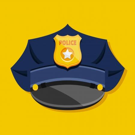 gorra policía: Vector Policía Sombrero