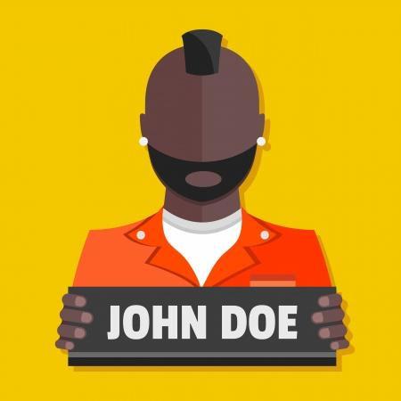 man in jail: Vector Prisoner Icon