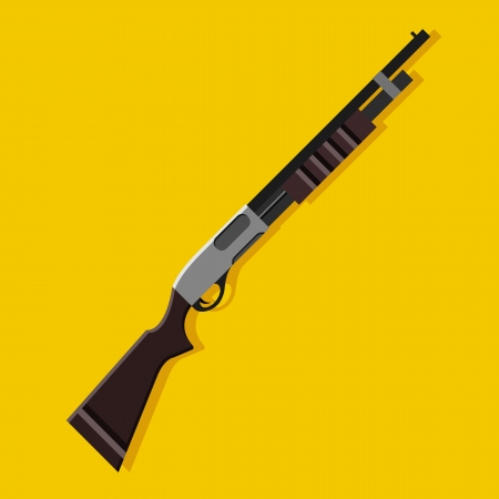 Vector Pump Action Shotgun Icon