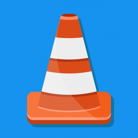 Vector Traffic Cone Icon Stock Vector - 23972201