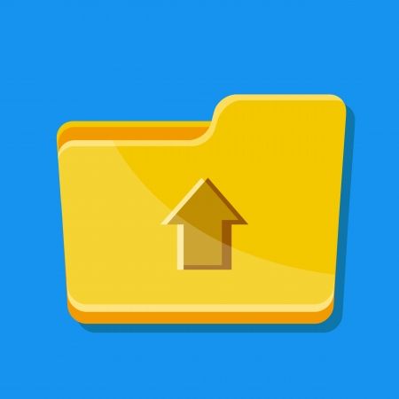 Vector Upload Folder Icon Illustration