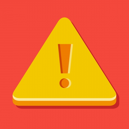 Vector Warning Sign Icon Stock Vector - 23972269