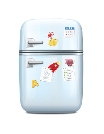 Fridge With Magnets Vector