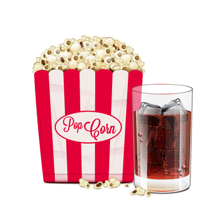 Popcorn And Soda Vector