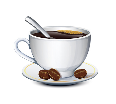 sugar spoon: Cup Of Coffee