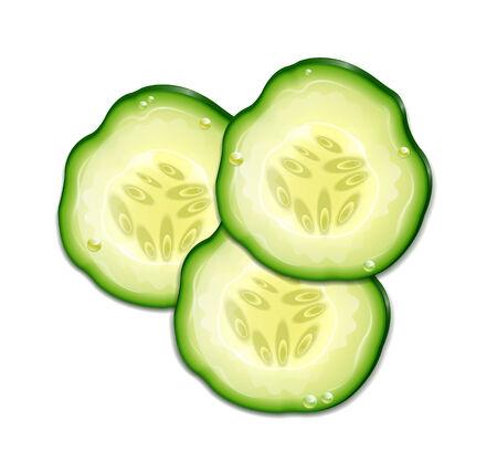 cucumber slice: Three Slice Cucumber