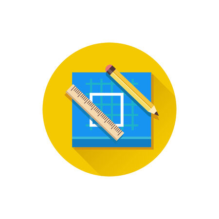 construction plans: Vector Blueprint Icon Illustration