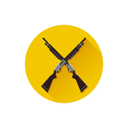 blunderbuss: Vector Crossed Pump-Action Shotguns Icon