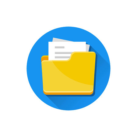 Vector Folder with Documents Icon Stock Vector - 26167834