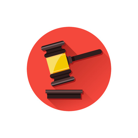 law and order: Vector Gavel Icon