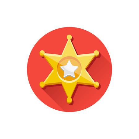 Vector Golden Sheriff Star Icon Stock Vector - 26167836