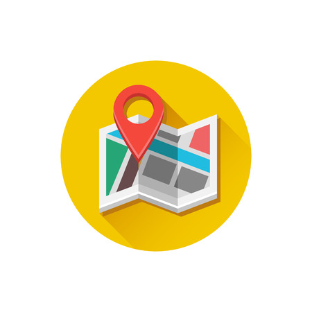 Vector Map and Map Label Icon