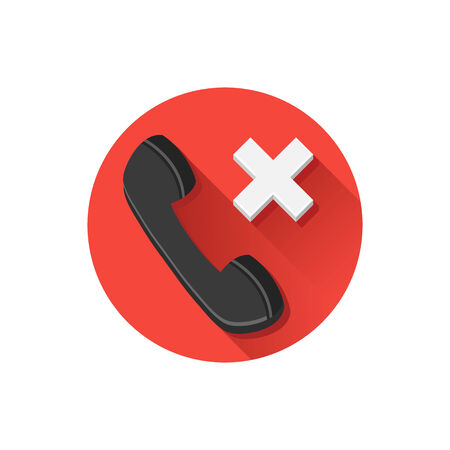 Vector Missed Call Icon Illustration